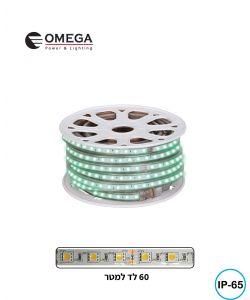 גליל לד 50 מ' צבע ירוק 220V