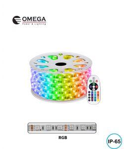 גליל לד 50 מ' RGB 220V