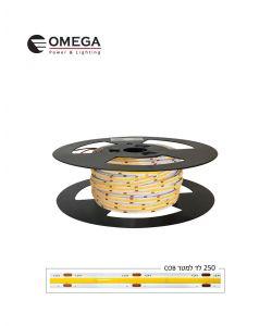 סרט לד COB 24V  ניתן לחיתוך אור חם