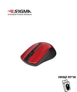 עכבר אלחוטי  WS360 אדום - קופסה