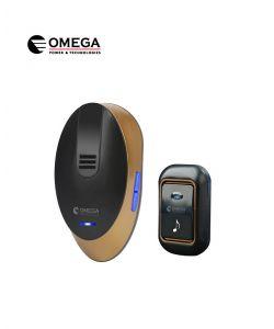 פעמון דלת אלחוטי דיגיטלי שחור וזהב