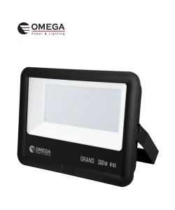 פנס הצפה 300W AC דגם GRAND שחור אור יום OMEGA