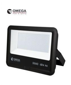 פנס הצפה 400W AC דגם GRAND שחור אור יום OMEGA