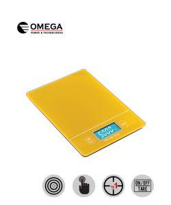 משקל מטבח מסך מגע מואר צהוב