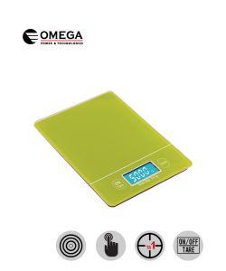 משקל מטבח מסך מגע מואר ירוק