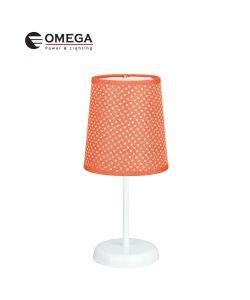 מנורת שולחן מעוצבת ערבה כתום