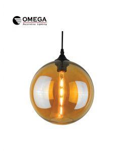 גוף תאורה תלוי דגם C-BALL ענבר