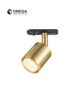 ספוט מתכוונן לפס צבירה COMPACT חד פאזי זהב