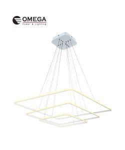 גוף תאורה תלוי דגם קאי ריבועי בינוני אור חם