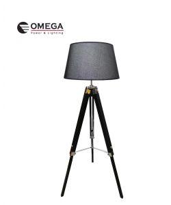 משי L מנורת רצפה דקורטיבית שחור