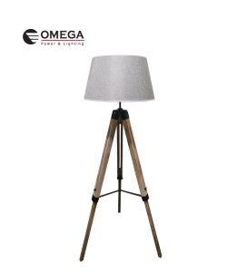 משי L מנורת רצפה דקורטיבית אפור