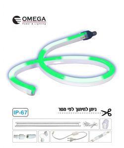 סרט ניאון לד גמיש אור רץ ירוק לפי הזמנת הלקוח, ניתן לחיתוך לפי מטר
