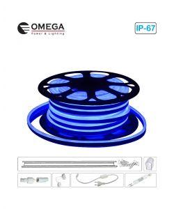 סרט ניאון לד גמיש אור כחול לפי הזמנת הלקוח, ניתן לחיתוך לפי מטר