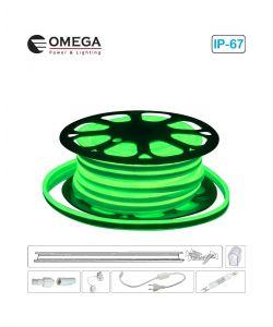 סרט ניאון לד גמיש אור ירוק לפי הזמנת הלקוח, ניתן לחיתוך לפי מטר