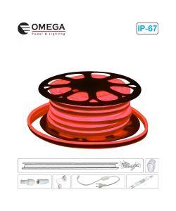סרט ניאון לד גמיש אור אדום לפי הזמנת הלקוח, ניתן לחיתוך לפי מטר