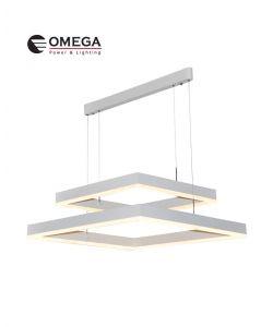 גוף תאורה תלוי דגם  אוסקר מרובע כפול אור חם
