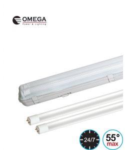 מוגן מים LED T8 2x22W PRO