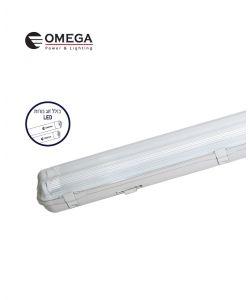 מוגן מים LED T8 2x22W PC