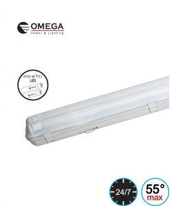 מוגן מים מקצועי LED T8 2x28W PC