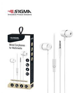 אוזניות מולטימדיה AUX 3.5mm צבע לבן